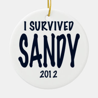 Sobreviví a Sandy Adorno Navideño Redondo De Cerámica