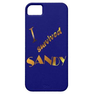 Sobreviví a Sandy, azul iPhone 5 Carcasa