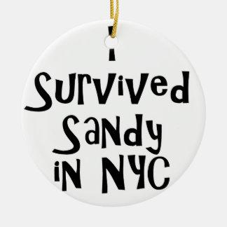Sobreviví a Sandy en NYC.png Adorno Navideño Redondo De Cerámica