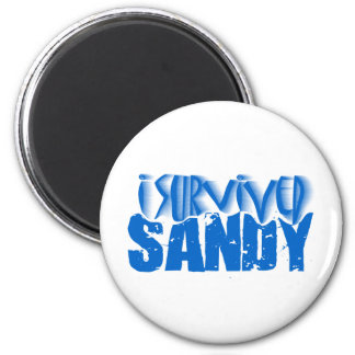 sobreviví a SANDY Imán Redondo 5 Cm
