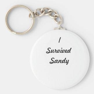 ¡Sobreviví a Sandy Llavero Personalizado