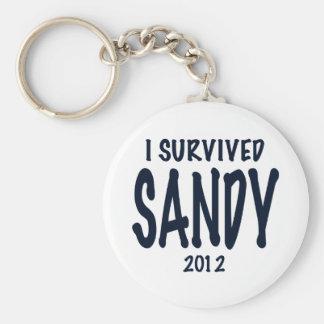 Sobreviví a Sandy Llavero Redondo Tipo Pin