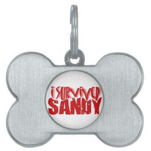 sobreviví a SANDY Placa De Mascota