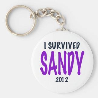 SOBREVIVÍ A SANDY, púrpura, regalos del supervivie Llaveros Personalizados