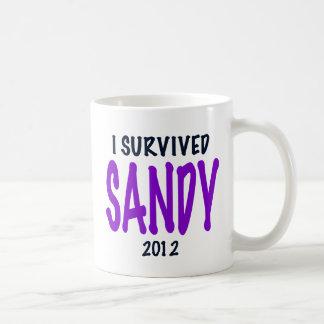 SOBREVIVÍ A SANDY, púrpura, regalos del Taza