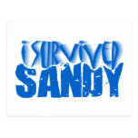 sobreviví a SANDY Tarjeta Postal
