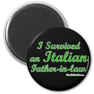 Sobreviví a un suegro italiano imán redondo 5 cm