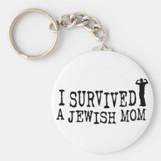 Sobreviví a una mamá judía - humor del judío llavero redondo tipo pin