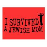 Sobreviví a una mamá judía - humor del judío postal