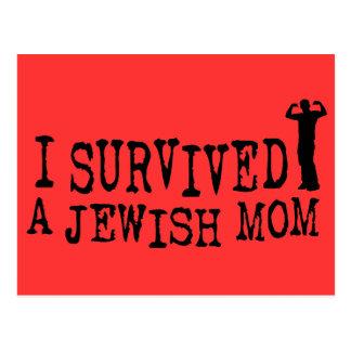 Sobreviví a una mamá judía - humor del judío tarjetas postales