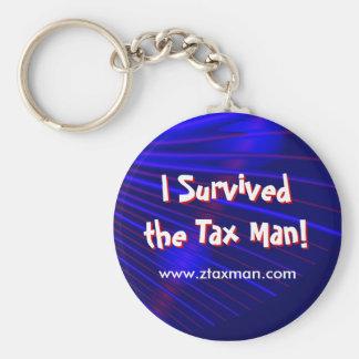 """""""Sobreviví al hombre del impuesto!"""" Llavero"""