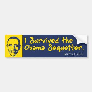 Sobreviví al Obama secuestro Pegatina Para Auto