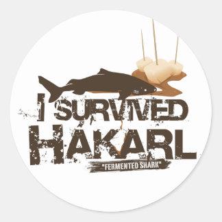 Sobreviví al pegatina de Hákarl