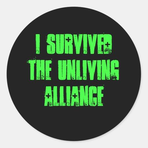 sobreviví al pegatina unliving de la alianza