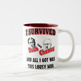Sobreviví Bush y Cheney Taza De Dos Tonos