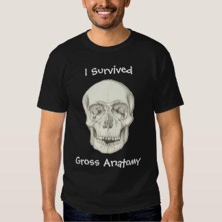 """""""Sobreviví camisa oscura de la anatomía gruesa"""""""