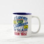 Sobreviví Carmageddon - autopista 405 Taza De Café