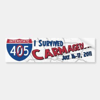 Sobreviví Carmageddon - cierre 405 Etiqueta De Parachoque