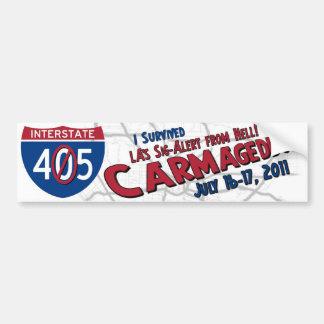 Sobreviví Carmageddon - cierre 405 Pegatina De Parachoque