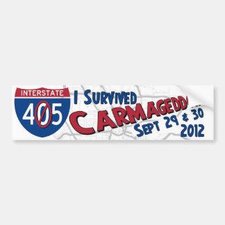 Sobreviví Carmageddon II - el cierre 405 Etiqueta De Parachoque
