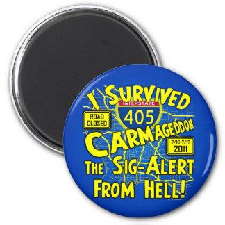 Sobreviví Carmageddon - Los Ángeles Imán Redondo 5 Cm