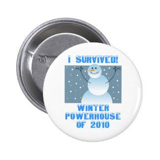 ¡Sobreviví! Central eléctrica del invierno de 2010 Pin