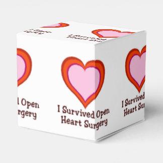 Sobreviví cirugía de corazón abierta caja para regalos de fiestas