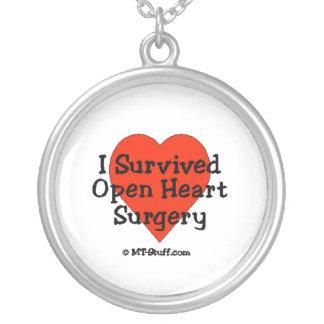 Sobreviví cirugía de corazón abierta collares personalizados