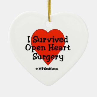 Sobreviví cirugía de corazón abierta ornaments para arbol de navidad