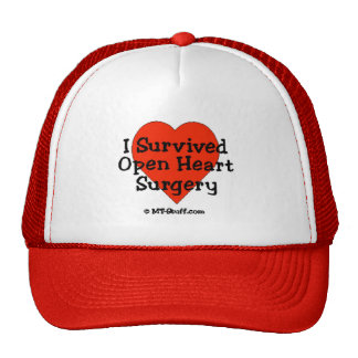 Sobreviví cirugía de corazón abierta gorros bordados