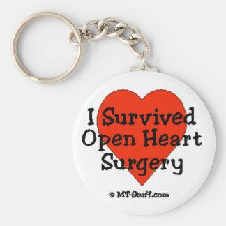Sobreviví cirugía de corazón abierta llaveros