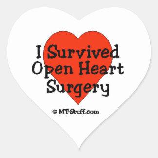 Sobreviví cirugía de corazón abierta pegatina en forma de corazón