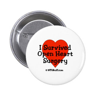 Sobreviví cirugía de corazón abierta pin redondo 5 cm
