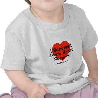 Sobreviví cirugía de corazón abierta camisetas