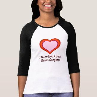 Sobreviví cirugía de corazón abierta remeras