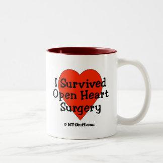 Sobreviví cirugía de corazón abierta taza de dos tonos