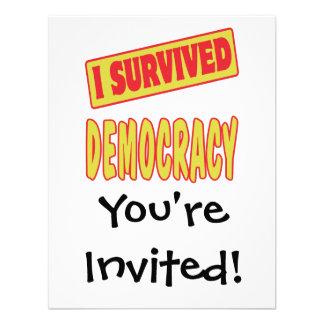 SOBREVIVÍ DEMOCRACIA INVITACION PERSONALIZADA
