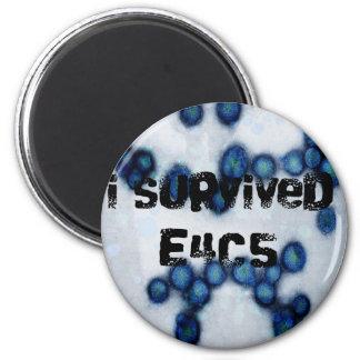 Sobreviví e4c5 imán redondo 5 cm
