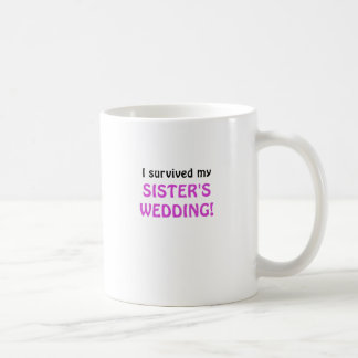 Sobreviví el boda de mi hermana taza básica blanca