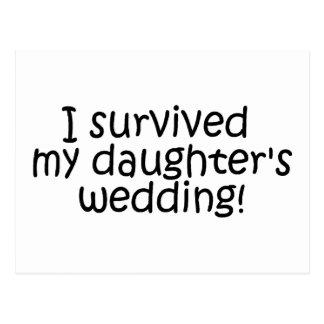 Sobreviví el boda de mi hija tarjetas postales
