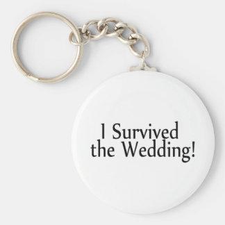Sobreviví el boda llavero redondo tipo pin