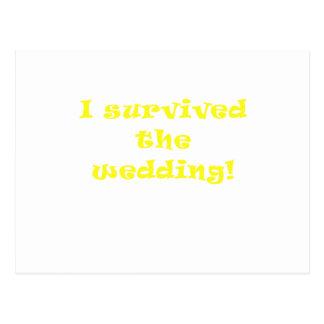Sobreviví el boda postal