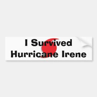 Sobreviví el bumpersticker de Irene Pegatina Para Auto