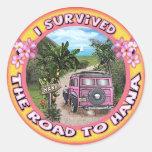 Sobreviví el camino a Hana Etiqueta Redonda