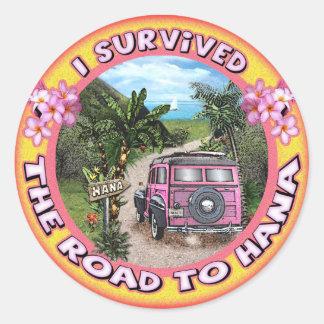 Sobreviví el camino a Hana Pegatina Redonda