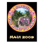Sobreviví el camino a Hana Tarjeta Postal