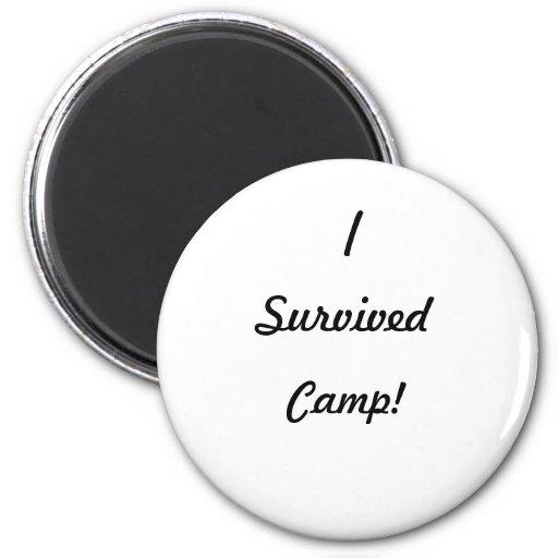¡Sobreviví el campo! Imanes De Nevera