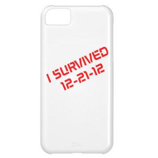 Sobreviví el caso que llevaba del iPhone 12-21-12