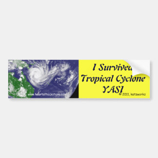 Sobreviví el ciclón tropical YASI Etiqueta De Parachoque
