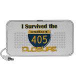 Sobreviví el cierre 405 altavoz de viajar
